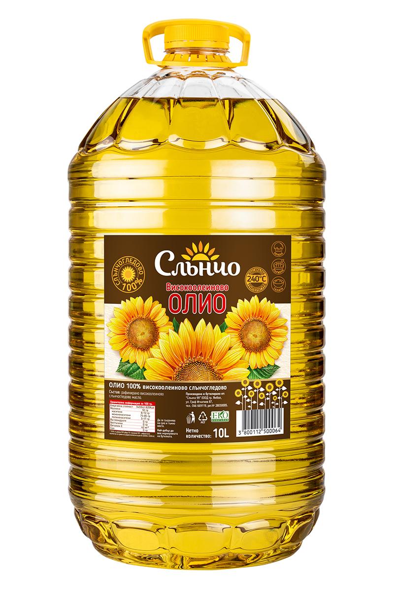 Слънчогледово Високоолеиново олио Слънчо  10л